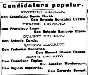 """Publicada no diario """"El Noticiero de Vigo"""" o 6.11-1911"""