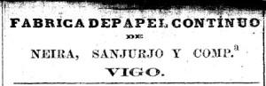 Anuncio publicado no Faro de Vigo en 1879
