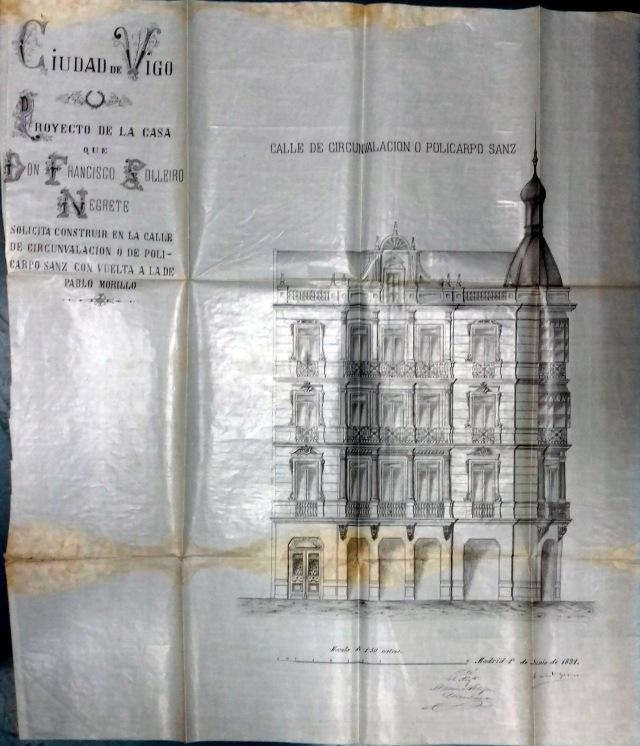 Proxecto da casa. Asinado en Madrid o 1 de xuño se 1891