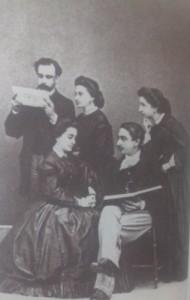 Hnos. Bárcena Franco. Arriba (Manuel, Concha e Angélica) sentados (Augusto e a súa dona María Saracho)