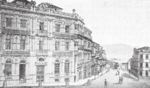 A casa de Bernardo Rodríguez /rúa Colón. (1900).