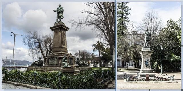 Monumento a Elduayen Monumento a Mendez Nuñez